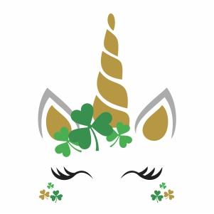 Irish Unicorn Face svg file