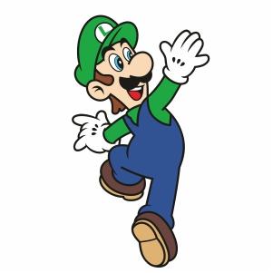 Luigi Super Mario Svg