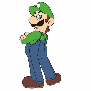 Super Mario Bros Luigi Svg