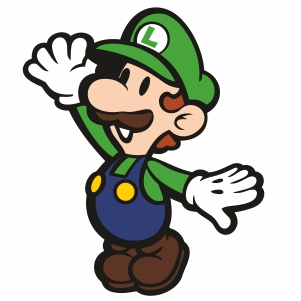 Super Mario Bros Luigi Clipart