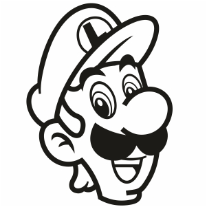 Luigi Head Svg For Silhouette