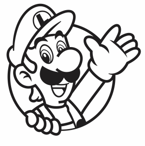Luigi Waving His Hand Clipart