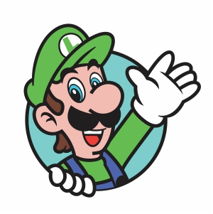 Luigi Waving His Hand Svg