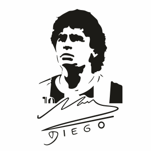 Diego Maradona Svg For Silhouette