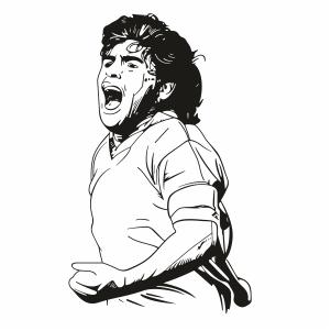 Diego Maradona Clipart