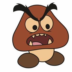 Super Mario Goomba Svg