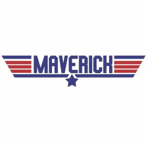 Maverick Top Gun logo svg cut file