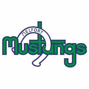 Vector Melfort Mustangs Logo