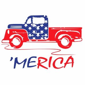 Merica Truck Vector