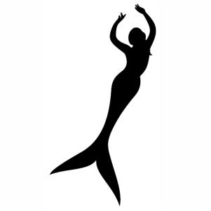 Dancing Mermaid Silhouette svg