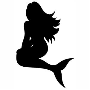 Mermaid sitting Svg