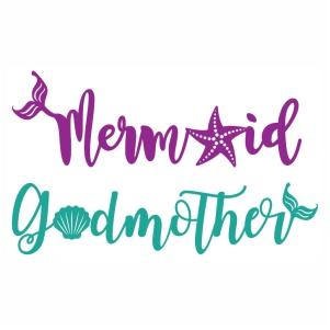 Birthday Godmother Mermaid svg