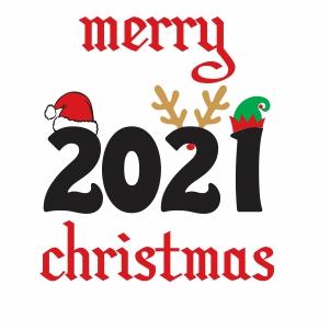 2021 Merry Christmas Svg