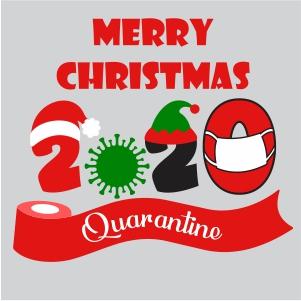 Merry Christmas 2020 Quarantined Svg