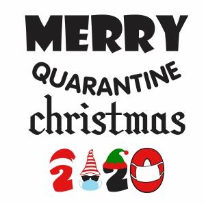 Merry Quarantined Christmas 2020 Svg