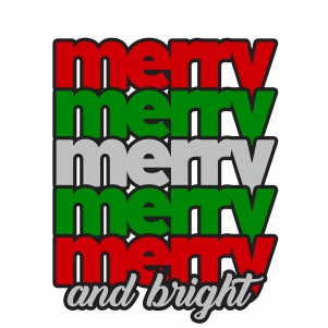 Merry And Bright Clipart