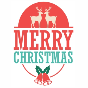 Merry Christmas greeting svg file