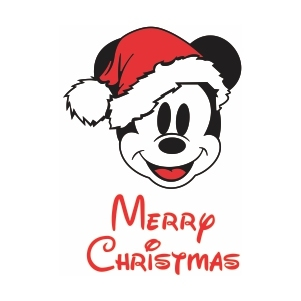 Mickey Mouse Merry Christmas Svg