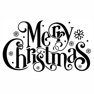 Merry Christmas silhouette svg cut