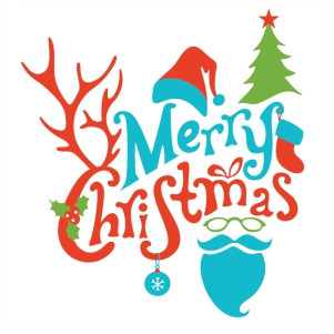 Merry Christmas Tree svg cut