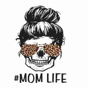 Messy Bun Mom Life svg file