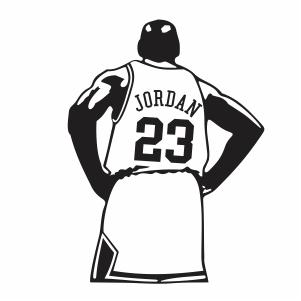 Michael Jordan 23 jersey Logo Vector
