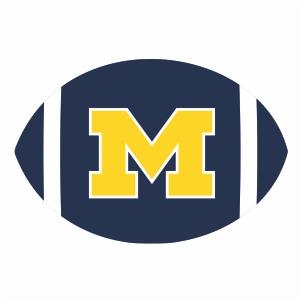 Michigan Wolverines M Ball Logo Vector