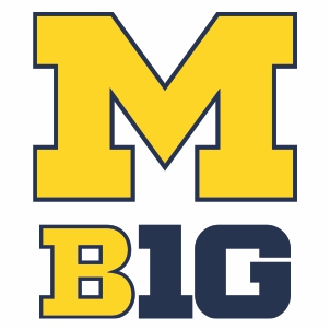 Michigan Wolverines M Big Logo Cut