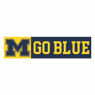 Michigan Wolverines M Go Blue Logo Vector