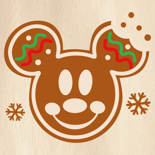 Christmas Mickey Gingerbread SVG