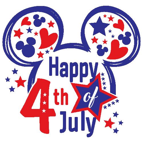 Mickey Happy 4th of July Svg