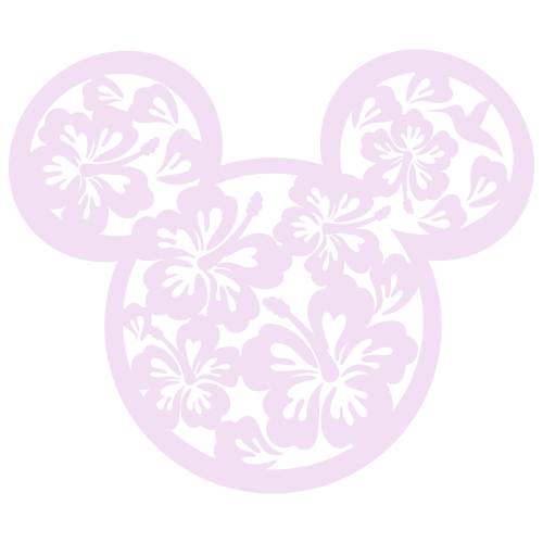 Mickey Floral Svg