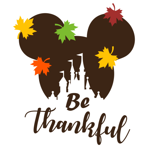 Mickey Castle Be Thankful Svg