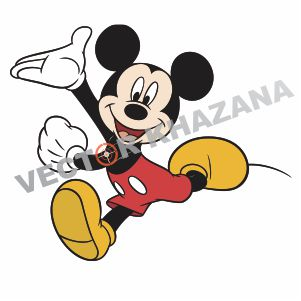 Mickey Mouse Running Logo Vector