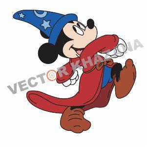 Funny Mickey Mouse Vector Logo