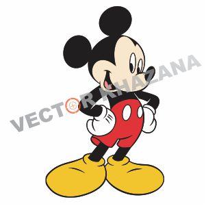 Cute Mickey Mouse Logo Vector