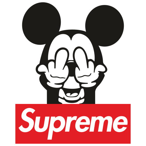 Mickey Mouse Supreme Svg