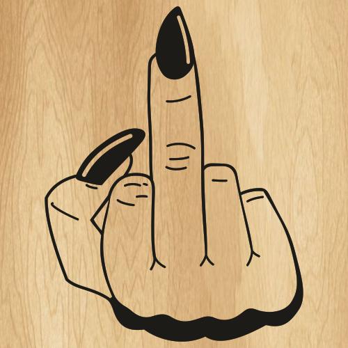 Middle Finger Sign Svg