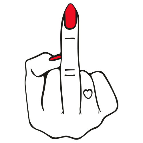 Woman Middle Finger Svg For Silhouette