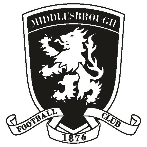Middlesbrough FC Black Svg