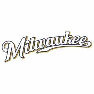 Milwaukee Brewers Jersey Logo Cut