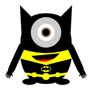 Minion Batman svg cut