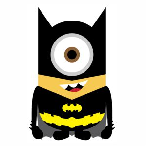 Batman Minion vector image