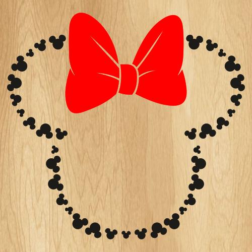 Minnie Heads Outline SVG