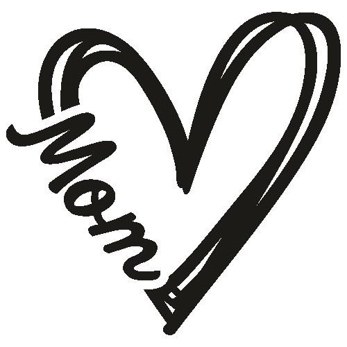 Mom Heart logo Svg