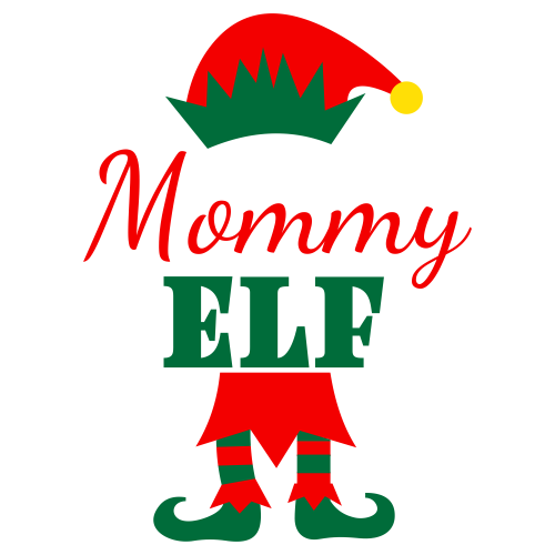 Mommy Elf Svg