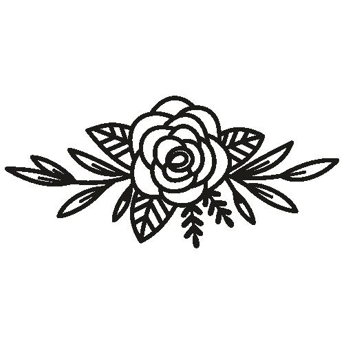 Monogram Rose Svg
