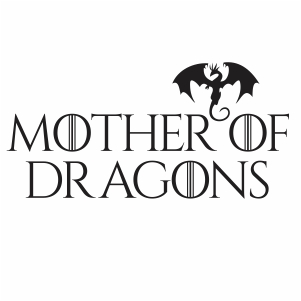 game of thrones mother of dragons logo svg