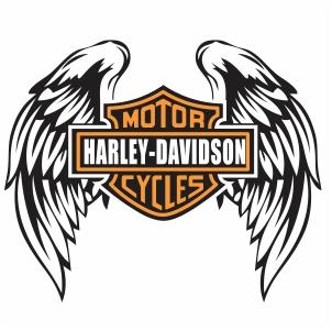 Harley Davidson Wings and shield  Logo Svg