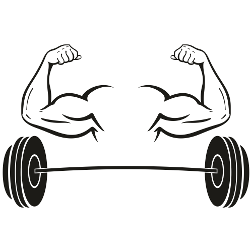 Muscle Dumbbell Svg